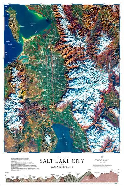 salt lake city  wasatch front map