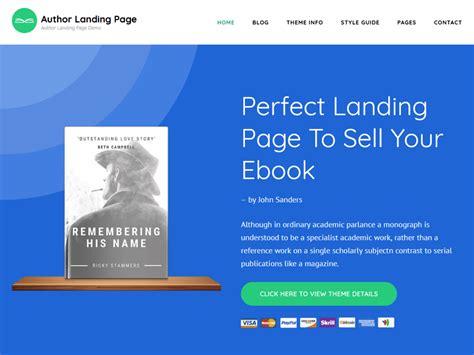 Author Landing Page Theme