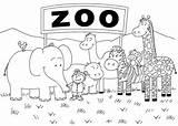 Coloring Zoo Kindergarten Animals Printable Preschool Sheets Animal Colouring Sheet Worksheets Safari Biz Results sketch template