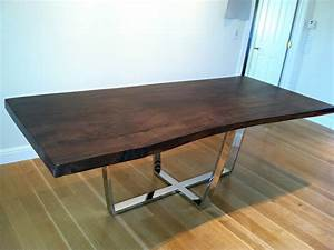 Rustic Dining Table With Metal Base Images And Photos