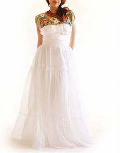 mexican embroidered wedding dress wwwimgkidcom the With mexican style wedding dresses