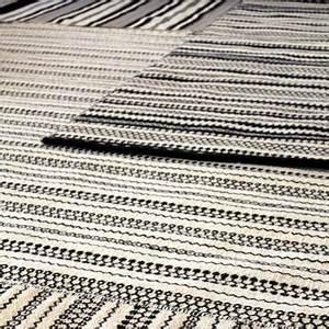 Tapis Graphique Noir Et Blanc : tapis noir et blanc objet d co ~ Teatrodelosmanantiales.com Idées de Décoration
