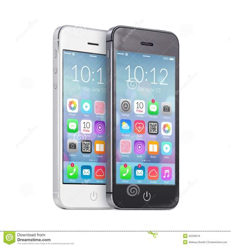 black modern smartphone with application icons on the black and white smartphones with colorful application