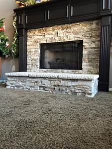 Stone veneer fireplace remodel remodeling contractor for Stone veneer fireplace for renovation