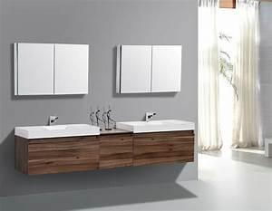 Double, Sink, Vanity, Application, For, Spacious, Bathroom, Design