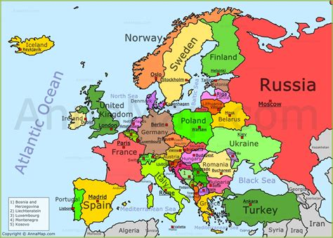 europe map political map  europe  countries