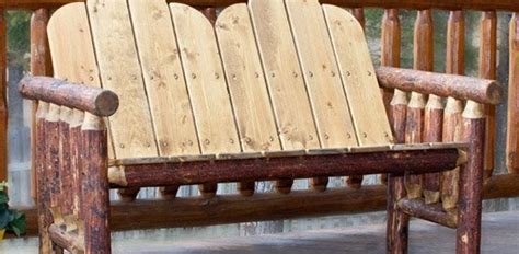 pine log outdoor rustic furniture