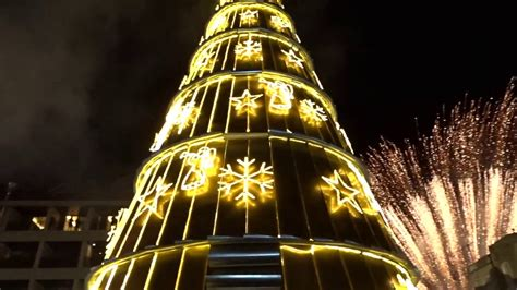 where is the biggest chistmas tree in the whole world the lighting of the tree in dhour shweir