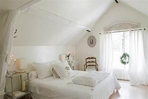 Chambre Parentale Romantique : jolie maison de campagne au design romantique en france ~ Premium-room.com Idées de Décoration