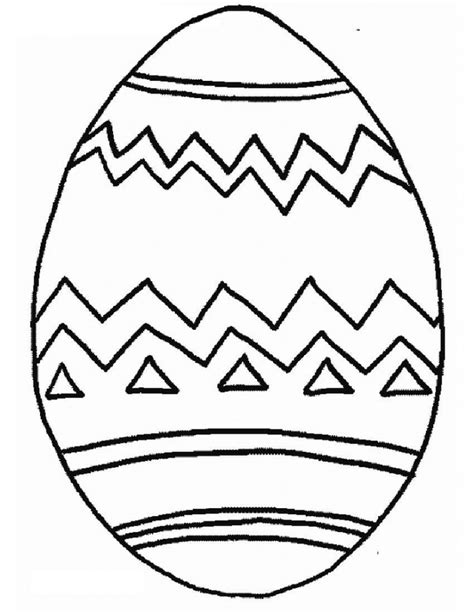 printable easter egg coloring pages  kids