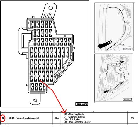 2008 Volkswagen Rabbit Fuse Box Diagram by Which Fuse Supplies The 12v To The Cigarette Lighter