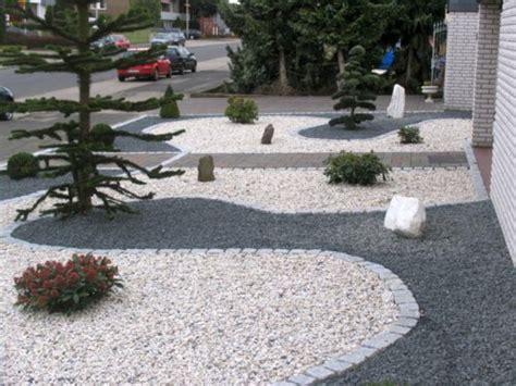 Kiesflächen Im Garten Anlegenvorgartengestaltung Mit Kies