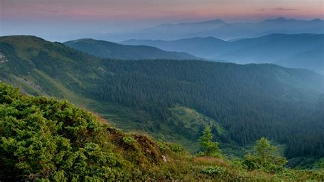 wallpaper carpathian mountains ukraine  nature