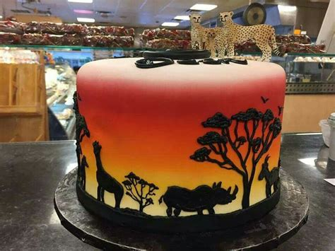 jungle silhouette sunset cake  alessi bakery cakes