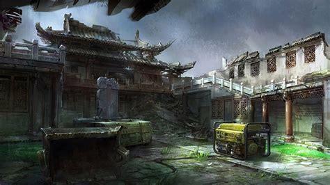 art mourad asia temple ruin ruins generators installation