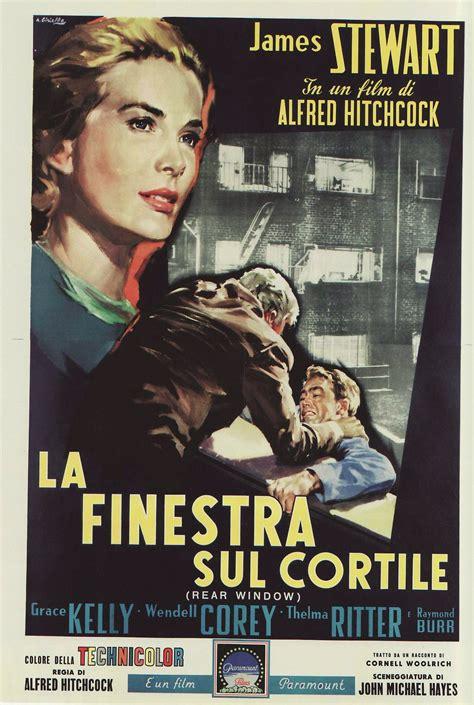 Hitchcock La Finestra Sul Cortile by Rear Window Poster La Finestra Sul Cortile Di Alfred