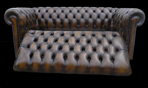 canapé convertible chesterfield canapé chesterfield lit 3 places marron patiné longfield