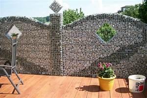 Gabionenzaun Mit Hecke : 20 ide steink rbe terbaik di pinterest sichtschutz garten ideen bilder steingarten gestalten ~ Orissabook.com Haus und Dekorationen