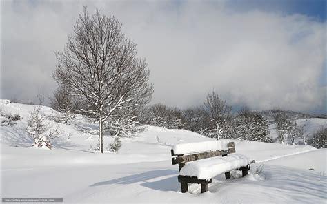 foto de Tlcharger Fond d'ecran hiver banc neige Fonds d'ecran