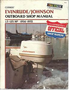 Johnson Evinrude Outboard Shop Manual 1 5hp - 125hp 1956 To 1972