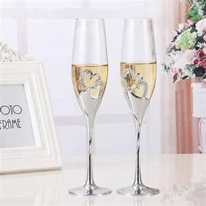 Verre A Champagne : verre a champagne mariage achat vente verre a champagne mariage pas cher cdiscount ~ Teatrodelosmanantiales.com Idées de Décoration