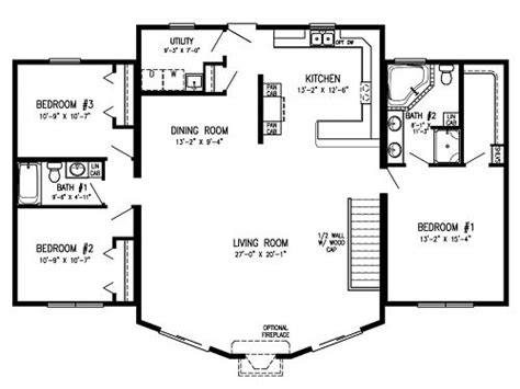 Modular Homes With Open Floor Plans Log Cabin Modular