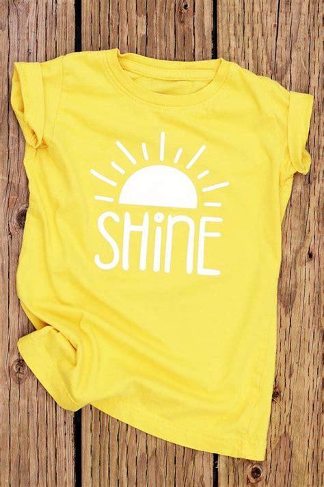 shine yellow shirt cute shirts  girls girls shirts