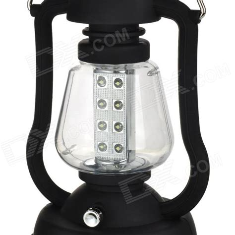 ry t92 solar powered cranked led white light outdoor cing l lantern black free
