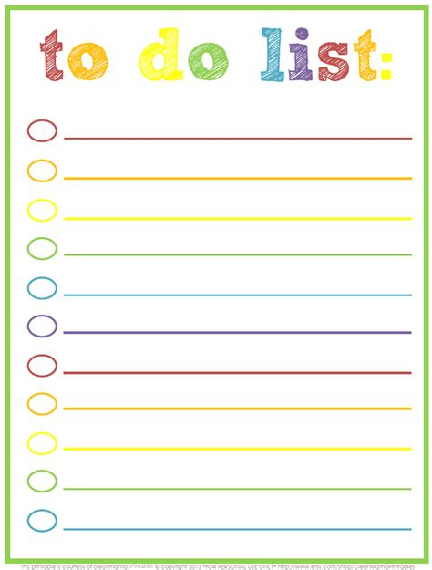 to do lis 3 free printable to do lists to jumpstart your