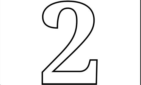 7 Best Images Of Printable Number 2