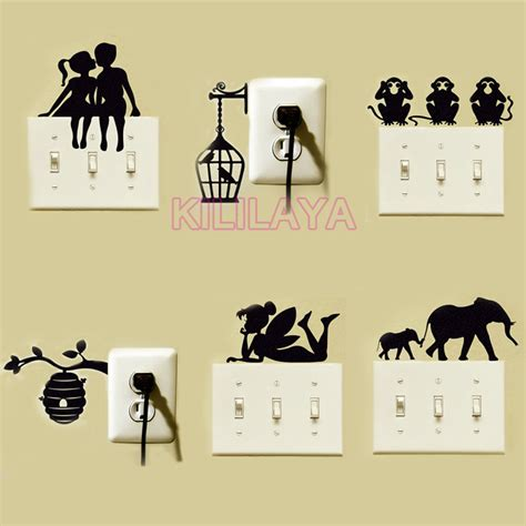 tinkerbell switch stickers vinyl wall sticker