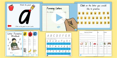 queensland letter formation resource pack writing