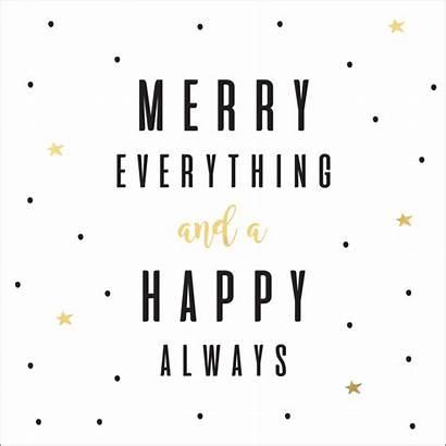 Kerstkaart Merry Everything Happy Afkomstig Goudfolie