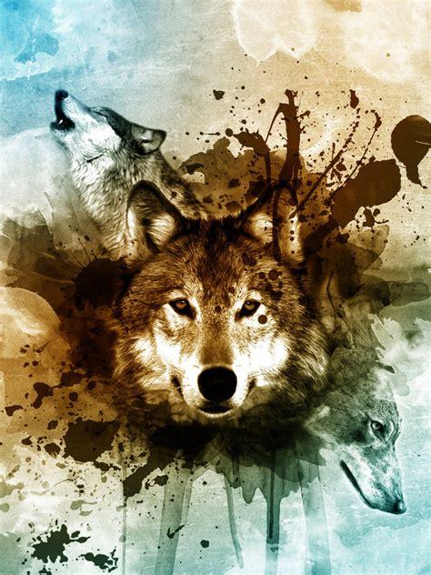wolf painting  photoshop  djaanssen  deviantart