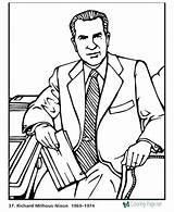Coloring President Nixon Richard Presidents Printable Biography Printables Usa States United Getcolorings Presidential Popular Printing sketch template
