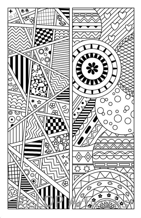 set   coloring bookmarks    quotes     abstract pattern designs