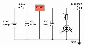 Diy Power Bank Circuit Diagram Using 7805 Voltage Regulator Ic