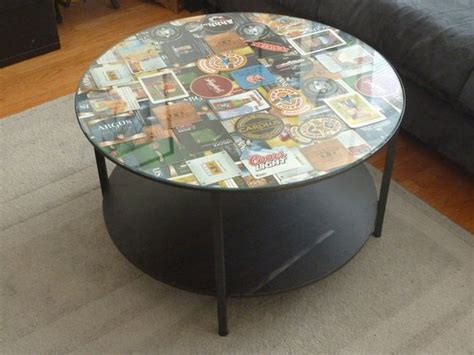 Mod Podge Kitchen Table coffee table coaster frame ikea hackers ikea hackers