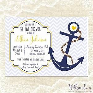 nautical bridal shower invitation anchor bridal shower With nautical wedding shower invitations