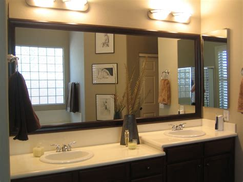 Decorating Bathroom Mirrors Ideas by Bathroom Mirrors Separate Or One Big Of Glass