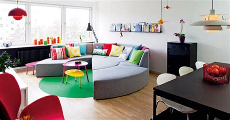 Playfully Colorful Interiors : Playful And Colorful Style Apartment