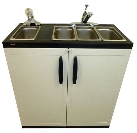 portable kitchen sink home depot portable sink depot portable sink 4 compartment