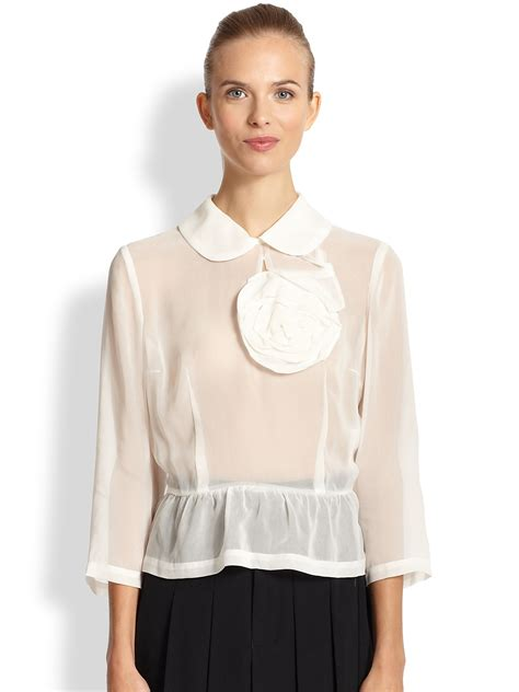 sheer white blouse white sheer blouse black blouse
