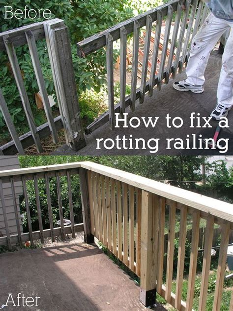 Porch Railing Wood - how to replace a rotted wood porch railing diy ideas