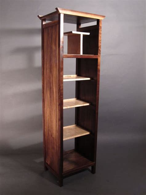 Narrow Open Bookshelf by Narrow Bookcase Solid Wood Home Decor