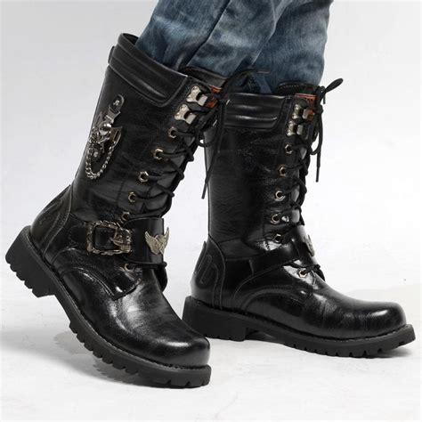 New Fashion Vintage Punk Men Platform Shoes Mans Long