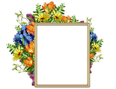 Lindo marco para fotos con diversas flores bonitas Marco