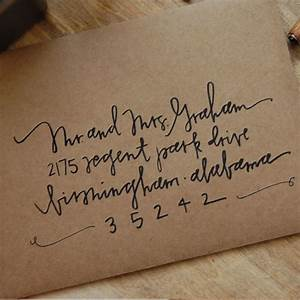 items similar to handwritten envelopes on etsy With wedding invitation envelope addressing fonts