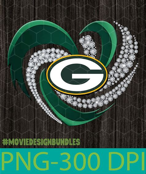 green bay packers heart png clipart illustration