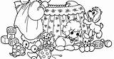 Coloring Crib Baby sketch template